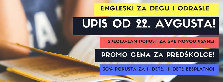 UPIS u školu stranih jezika